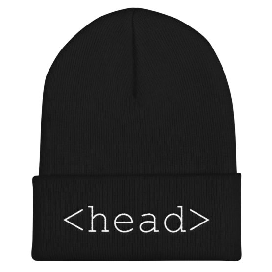 HTML Head Tag Beanie Black