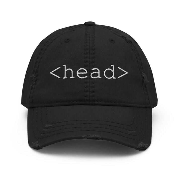 Head Tag HTML Hat Black
