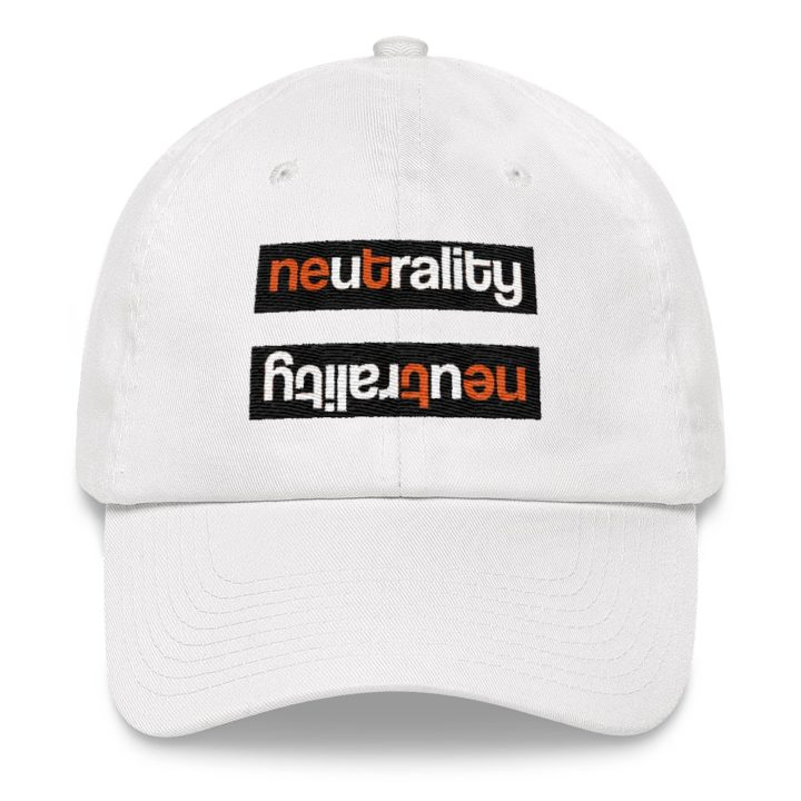 Net Neutrality Equal Sign Dad Hat White