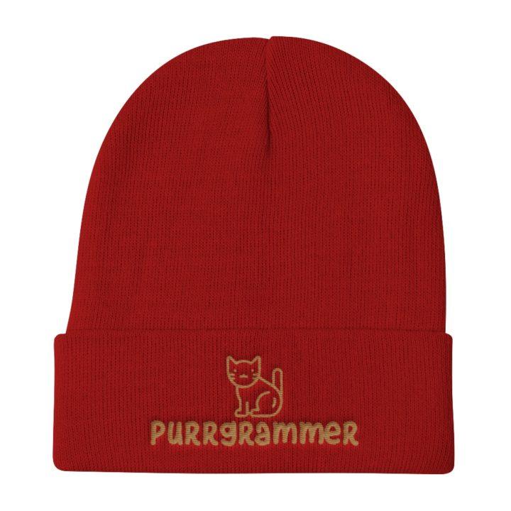 Purrgrammer Beanie Red