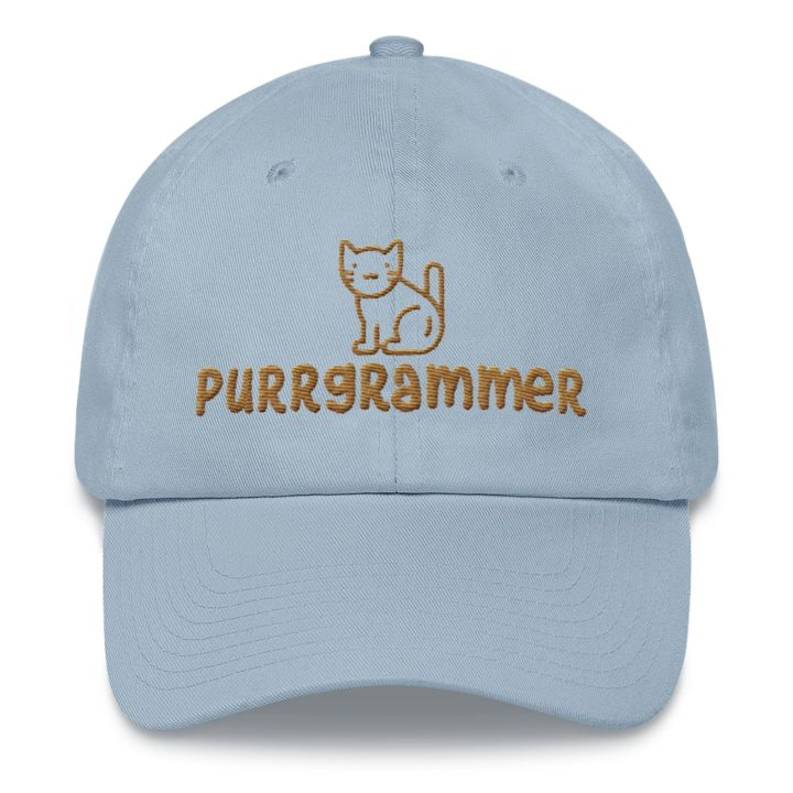 Purrgrammer Cat Dad Hat Light Blue