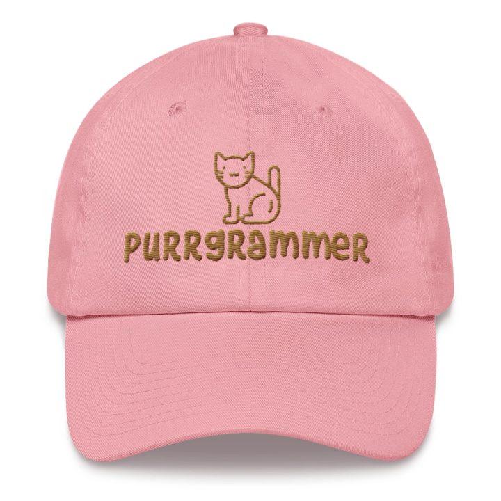 Purrgrammer Cat Dad Hat Pink