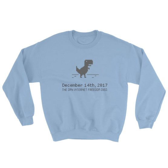 December 14 Net Neutrality Sweatshirt Light Blue