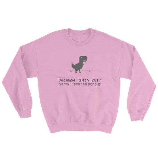 December 14 Net Neutrality Sweatshirt Light Pink