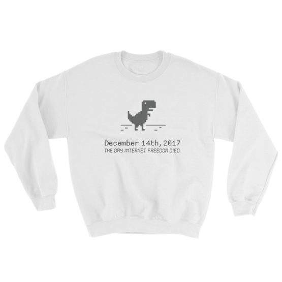 December 14 Net Neutrality Sweatshirt White