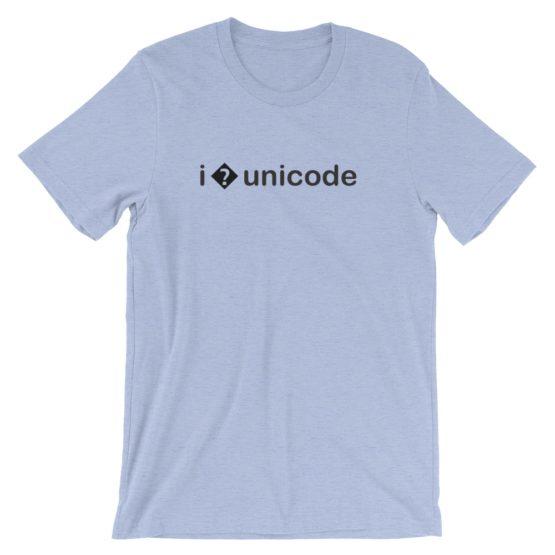 I � Unicode T-Shirt Heather Blue