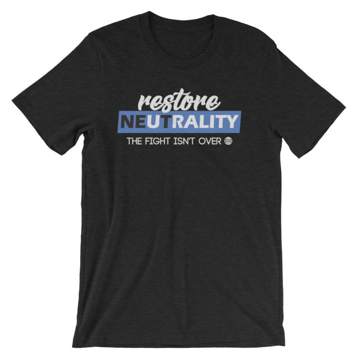 Restore Net Neutrality T-Shirt Black Heather