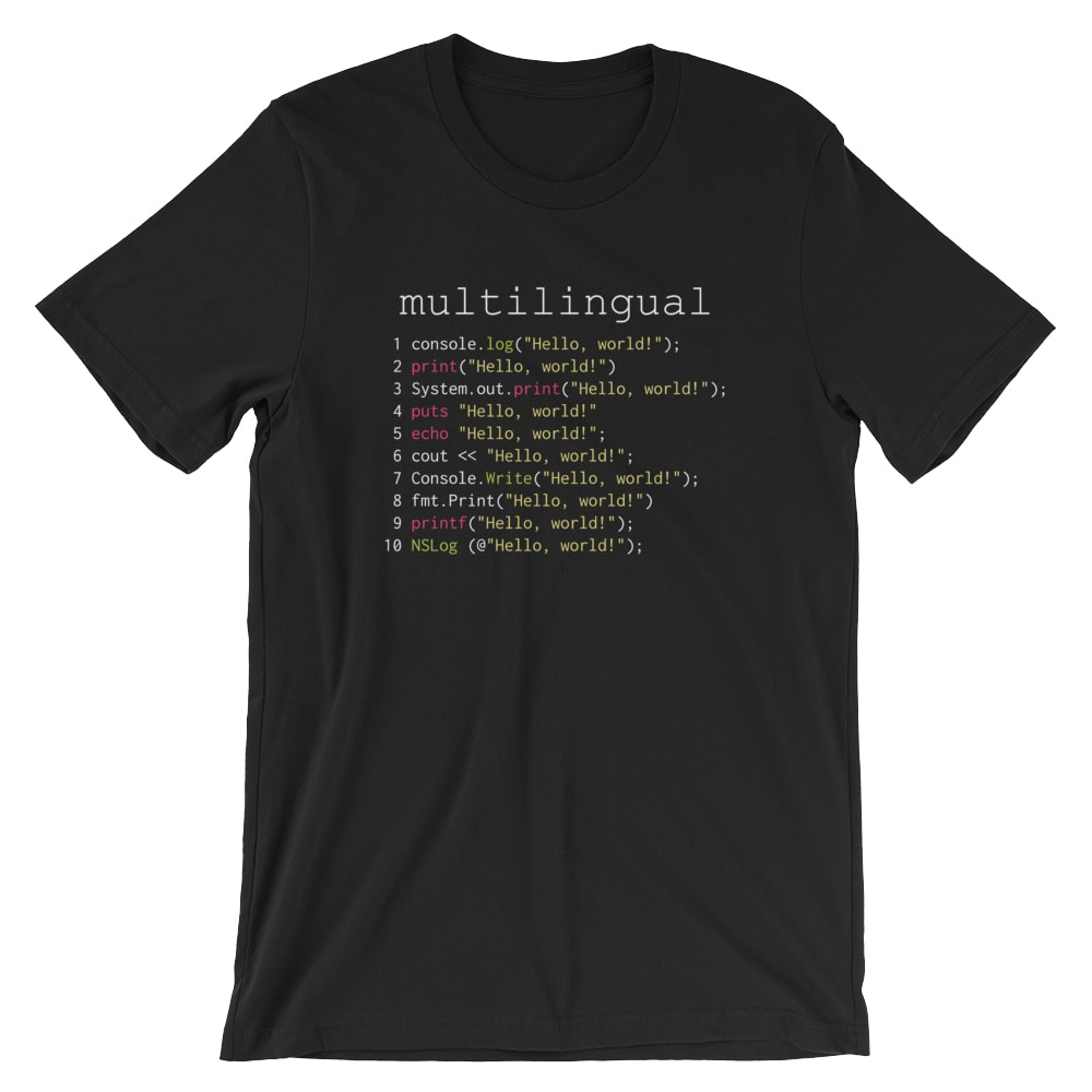 Multilingual Coder T-Shirt