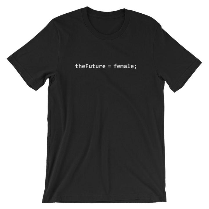 theFuture Equals Female T-Shirt Black
