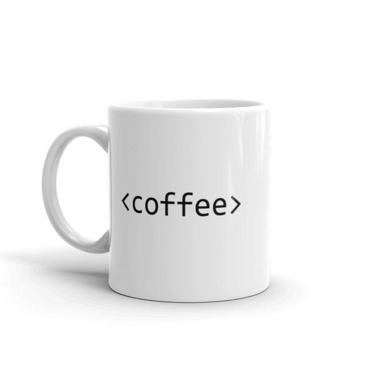 Coffee Tag Mug Left