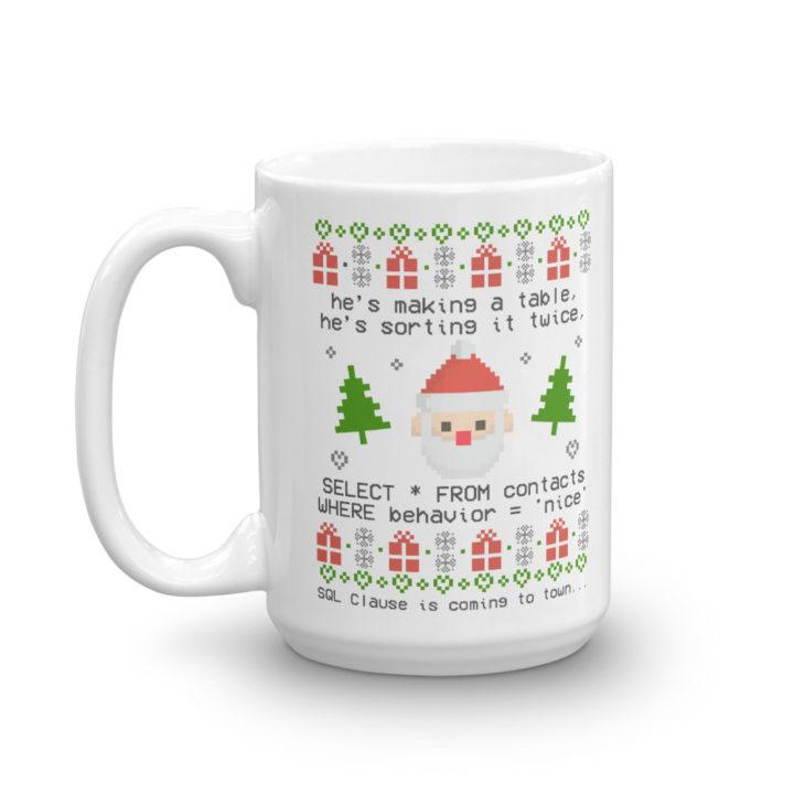 SQL Clause Mug 15oz Left