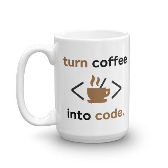 Coffee Into Code Mug