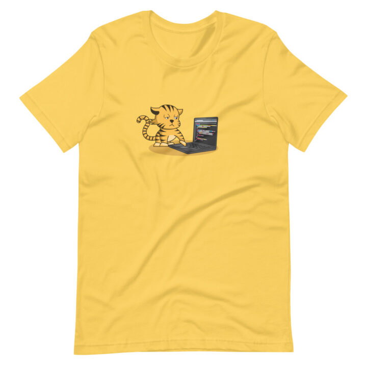 Cat Laptop T-Shirt