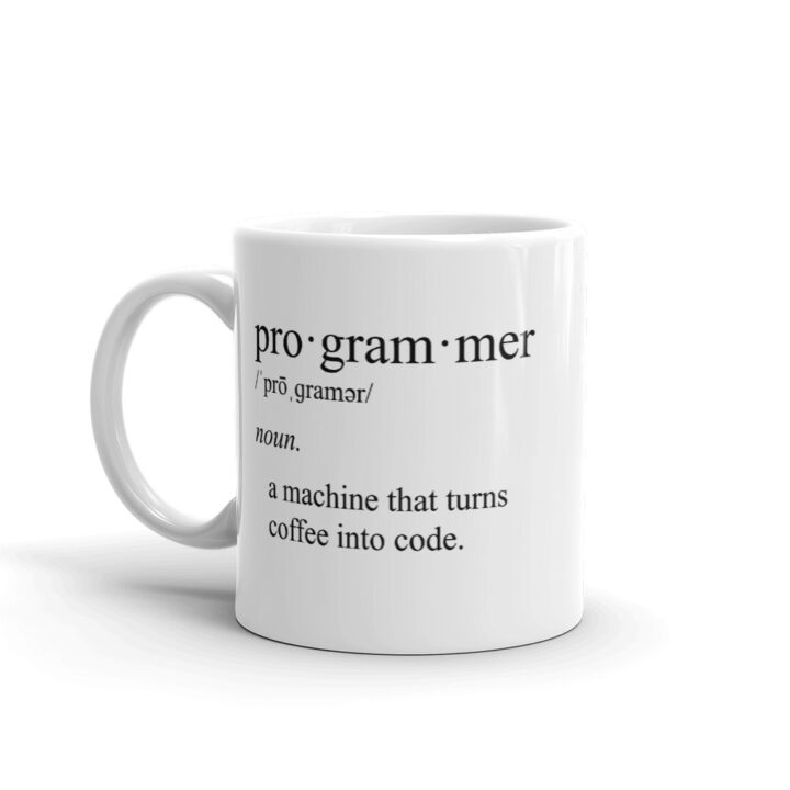 Programmer Definition Coffee Into Code Mug